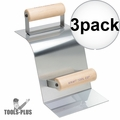 """Kraft Tool CF513 Stainless Curb Tool,2""""R Curb,90° Gutter w/Wood Handle 3x"""