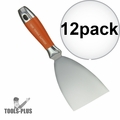 "Kraft Tool DW729PF Putty & Drywall Knife Stainless Steel 4"" 12x"