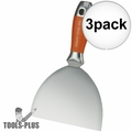 "Kraft Tool DW733PF Putty & Drywall Knife Stainless Steel 6"" 3x"