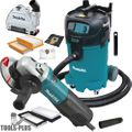 "Makita 9565PC 5"" SJS Angle Grinder Kit w/HEPA Vac Dust Collector + Shroud"
