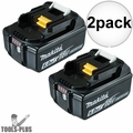 Makita BL1860B2 2pk 18V 6AH LI-ION Battery With Fuel Gauge