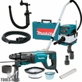 "Makita HR2641 1"" SDS+ 3-Mode VS AVT Rotary Hammer w/HEPA Vac Dust Collector"