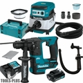 "Makita RH01R1 12V Li-Ion 5/8"" SDS+ Rotary Hammer w/HEPA Vac+Dust Extraction"