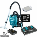 Makita XCV05PT 18V X2 36V LXT 1/2 Gallon HEPA Backpack Extractor/Vacuum 5ah