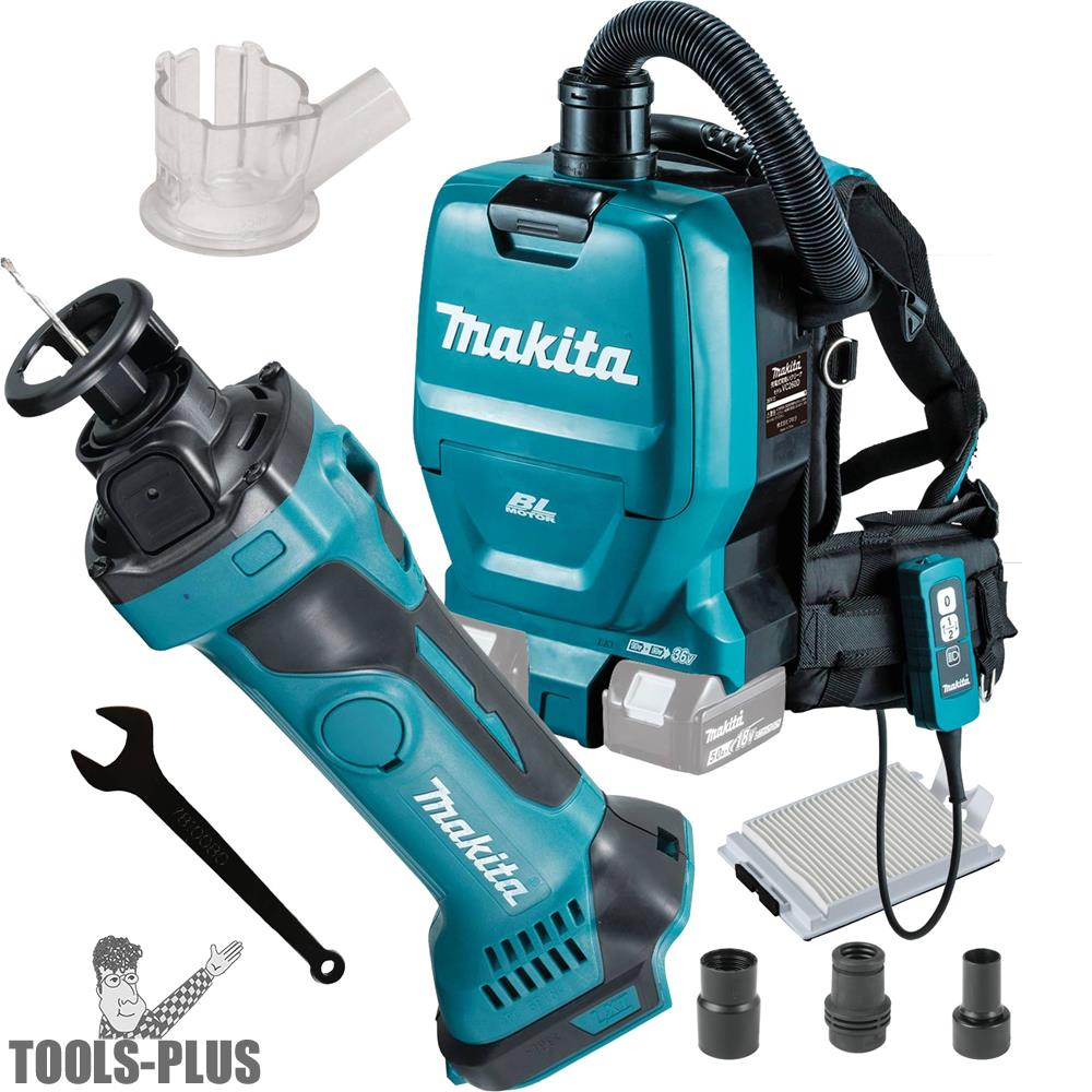 Makita Xoc01z 18v Lxt Drywall Cut Out Tool W Hepa Vac Dust Collect Shroud