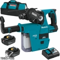 "Makita XRH011TX 18V LXT 1"" Rotary Hammer Kit w/ HEPA Vacuum Attachment"