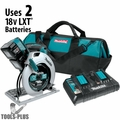 "Makita XSH06PT 18V X2 LXT Li-Ion (36V) Brushless 7-1/4"" Circular Saw Kit"