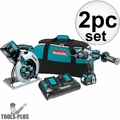 Makita XT259PM 18-Volt LXT Lithium-Ion Cordless Combo Kit 3x 4.0Ah (2-Piece)