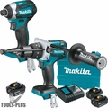 Makita XT268T 18V LXT Li-Ion Brushless 2pc Combo Kit w/ 2 5Ah + 1 6Ah Batt