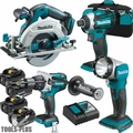 Makita XT449T 4pc 18V LXT Li-Ion Brushless Cordless Combo Kit 4 5.0ah Batts