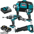 Makita XT450T 18V LXT Lithium-Ion Brushless Cordless 4-Pc. Combo Kit (5.0Ah)
