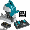 "Makita XWL01PT 18V X2 LXT Li-Ion (36V) Brushless 14"" Cut-Off Saw Kit (5.0Ah)"