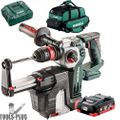 Metabo 600211900 18V Rot Hammer HEPA Dust Collect w/ 2x 8ah Batts + Charger