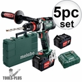 Metabo 602355620 18V Brushless 3-Speed Drill/Driver Kit 2X 5.2AH