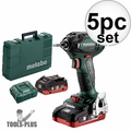Metabo 602396520 18V Brushless Impact Driver Kit 2X 4.0AH LIHD