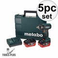 "Metabo US602205550 18V LTX 5.5Ah Li-Ion 1/2"" Impact Wrench Kit"