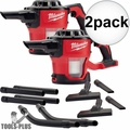 Milwaukee 0882-20 M18 Compact Vacuum (Tool Only) with HEPA Filter 2x