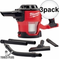 Milwaukee 0882-20 M18 Compact Vacuum (Tool Only) with HEPA Filter 3x