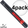 Milwaukee 2105 100-Lumen Impact Resistant Aluminum Pen Light Pocket Clip 4x