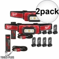 Milwaukee 2111-21 475 Lumens USB Rechargeable TRUEVIEW HD Headlamp 2x