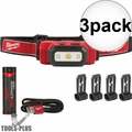 Milwaukee 2111-21 475 Lumens USB Rechargeable TRUEVIEW HD Headlamp 3x
