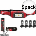 Milwaukee 2111-21 475 Lumens USB Rechargeable TRUEVIEW HD Headlamp 5x