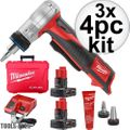 Milwaukee 2432-22XC 3x M12 ProPEX Expansion Tool Kit