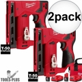 "Milwaukee 2447-21 2x M12 3/8"" Cordless Crown Stapler Kit"