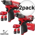 "Milwaukee 2454-22 2x M12 FUEL 3/8"" Impact Wrench Kit"