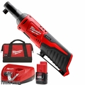 "Milwaukee 2457-21 12V M12 Cordless 3/8"" Ratchet w/1.5ah Batt+Charger"