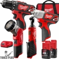 Milwaukee 2493-24 M12 Cordless Li-Ion 4 Tool Combo Kit