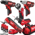 Milwaukee 2499-25P M12 5 pc Cordless Tool Combo Kit