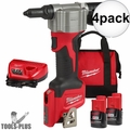 Milwaukee 2550-22 M12 Pop Rivet Tool 1.5AH Kit 4x  2 Battery Kit
