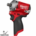 "Milwaukee 2555P-20 M12 FUEL Stubby 1/2"" Pin Detent Impact Wrench (Tool Only)"