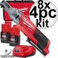 "Milwaukee 2556-22-8 M12 Fuel 12V Cordless 1/4"" Ratchet 2 Battery Kit 8x"