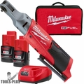 "Milwaukee 2556-22 M12 Fuel 12V Li-Ion Cordless 1/4"" Ratchet 2 Battery Kit"