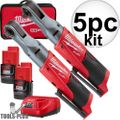 "Milwaukee 2557-22 M12 Fuel 12V Cordless 3/8""+1/2"" Ratchet 2 Battery Kit"