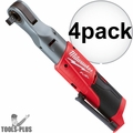 "Milwaukee 2558-20 M12 Fuel 12V Li-Ion Cordless 1/2"" Ratchet (Tool-Only) 4x"