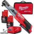 "Milwaukee 2558-22 M12 Fuel 12V Li-Ion Cordless 1/2"" Ratchet 2 Battery Kit"