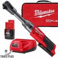 "Milwaukee 2559-21 M12 FUEL 1/4"" Extended Reach Ratchet 1 Battery Kit"