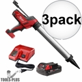 Milwaukee 2642-21CT M18 Cordless 20oz Sausage Caulk Adhesive Gun Kit 3x