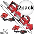 Milwaukee 2646-21CT 18V Li-Ion Cordless 2-Speed Grease Gun Kit 10,000PSI 2x