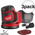"Milwaukee 2648-20 M18 5"" Random Orbit Sander (Tool Only) 3x"