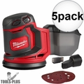 "Milwaukee 2648-20 M18 5"" Random Orbit Sander (Tool Only) 5x"