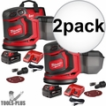 "Milwaukee 2648-21 M18 5"" Random Orbit Sander Kit 2x"