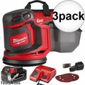 "Milwaukee 2648-21 M18 5"" Random Orbit Sander Kit 3x"