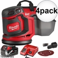 "Milwaukee 2648-21 M18 5"" Random Orbit Sander Kit 4x"