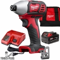 "Milwaukee 2656-21P M18 1/4"" Hex Impact Driver + Battery + Charger Kit"
