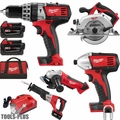 Milwaukee 2696-26 18 Volt M18 6 Piece Tool Kit