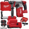 "Milwaukee 2712-22DE M18 FUEL 1"" SDS Plus Rotary Hammer w/HEPA Dust Extractor"
